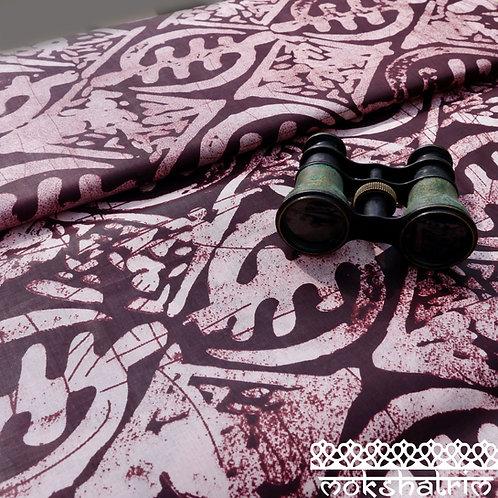 Dark Brown Seed batik printed ethnic african wax fabric ethnic cotton ankara Mokshatrim Haberdashery