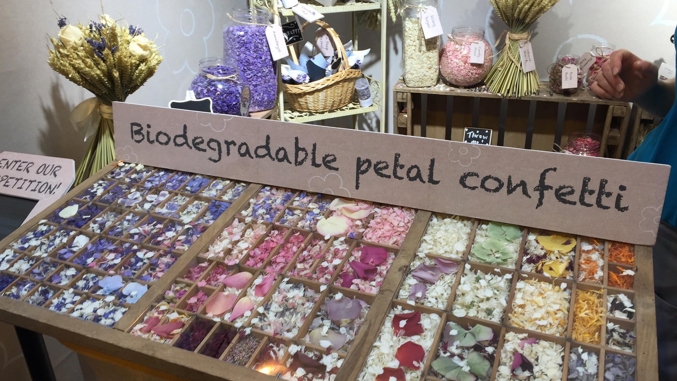 The smell was amazing from this biodegradable natural petal confetti from www.shopshirepetals.com
