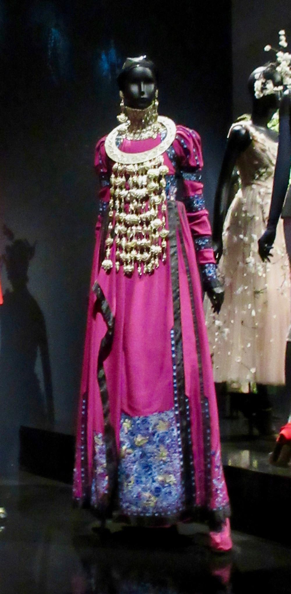 Principessa Eleanora ensemble, Galliano Haute Couture Autumn Winter 1998 Silk Faconne and Metal