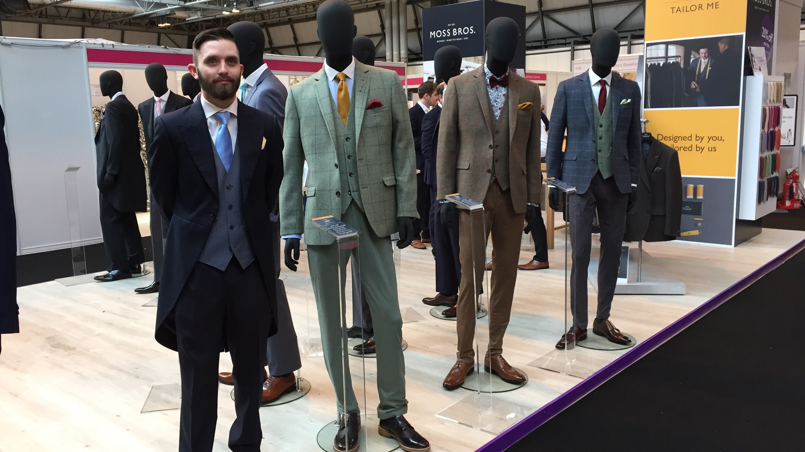 Let's not forget the men.... loving the tweed from Moss Bros Tailor Me