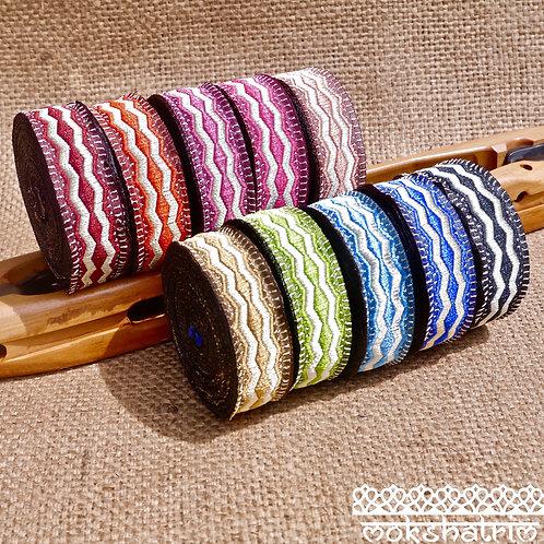 Fluted Zigzag Jacquard Ribbon MA133