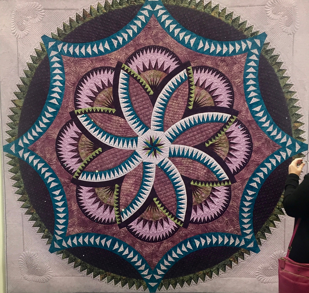 Festival of Quilts Purple haze by Yvonne McKee (Traditional Quilt)