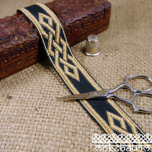 Gold Knot Jacquard Ribbon ML83