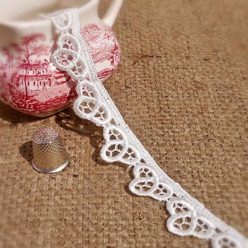 Ivory Celtic Knot Guipure Lace sheen vintage bridal wedding summer