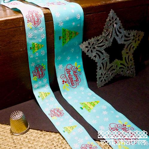 Merry Christmas Jacquard Ribbon MA919
