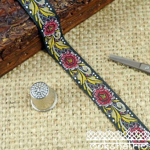 Floral Jacquard Ribbon M89