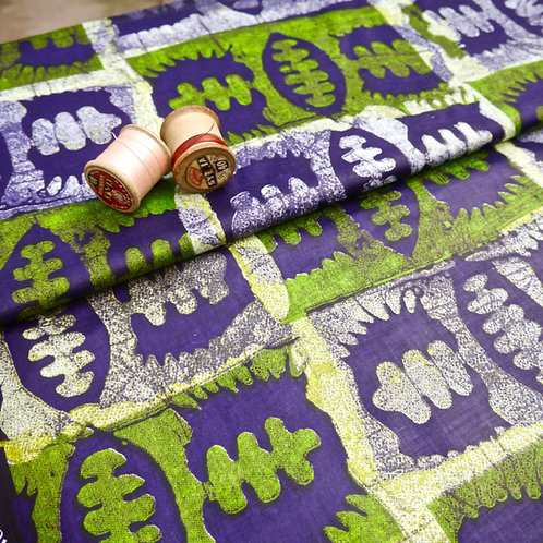 Green Seed batik tribal african wax ankara mokshatrim fabric cotton ethnic
