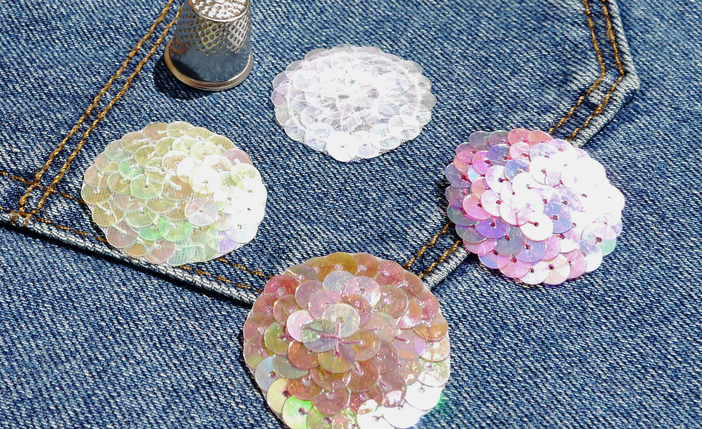 Sew on Sequin Applique Patches