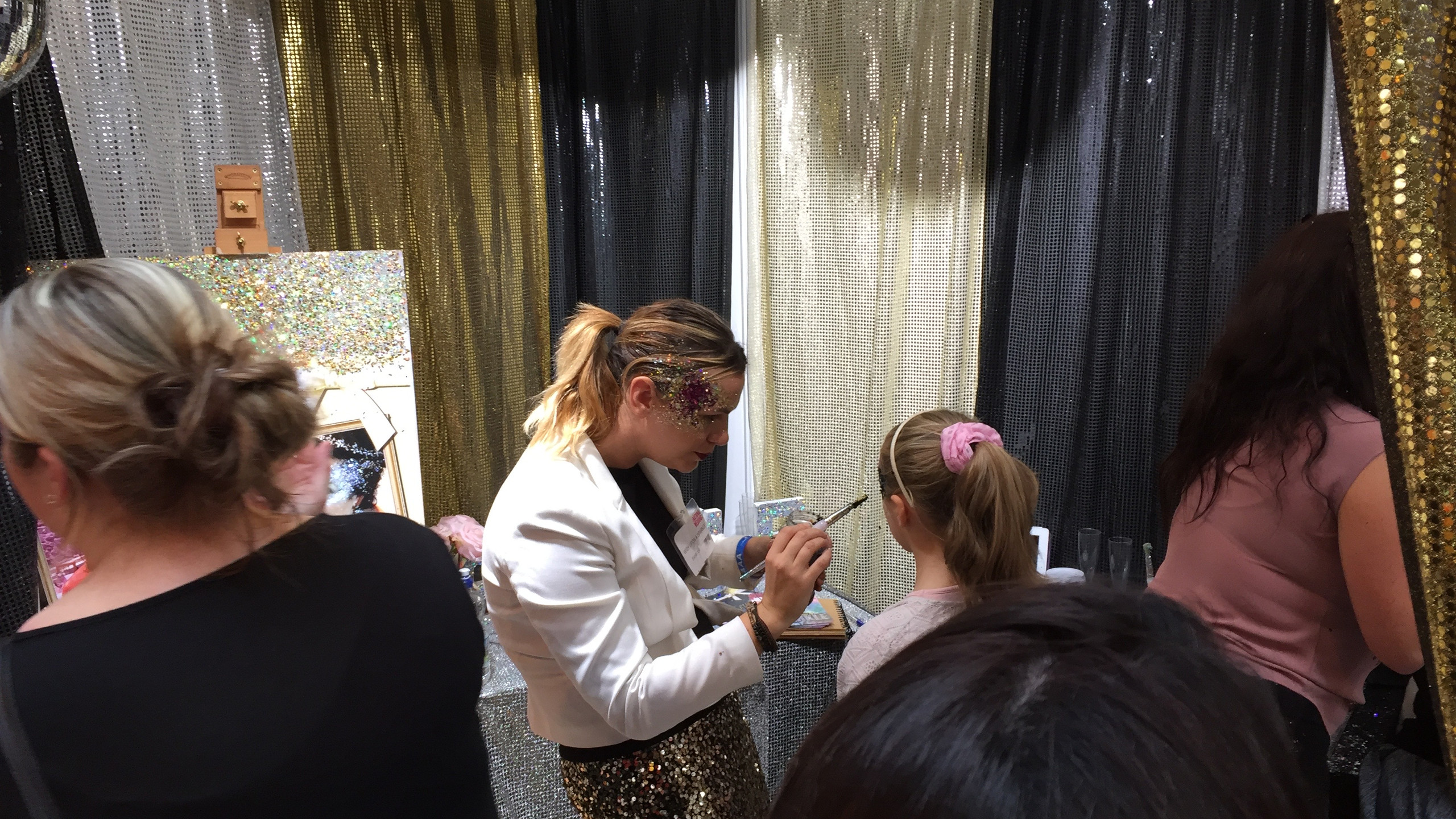 So many faces painted with gorgeous glitter by Wish Upon a Sparkle