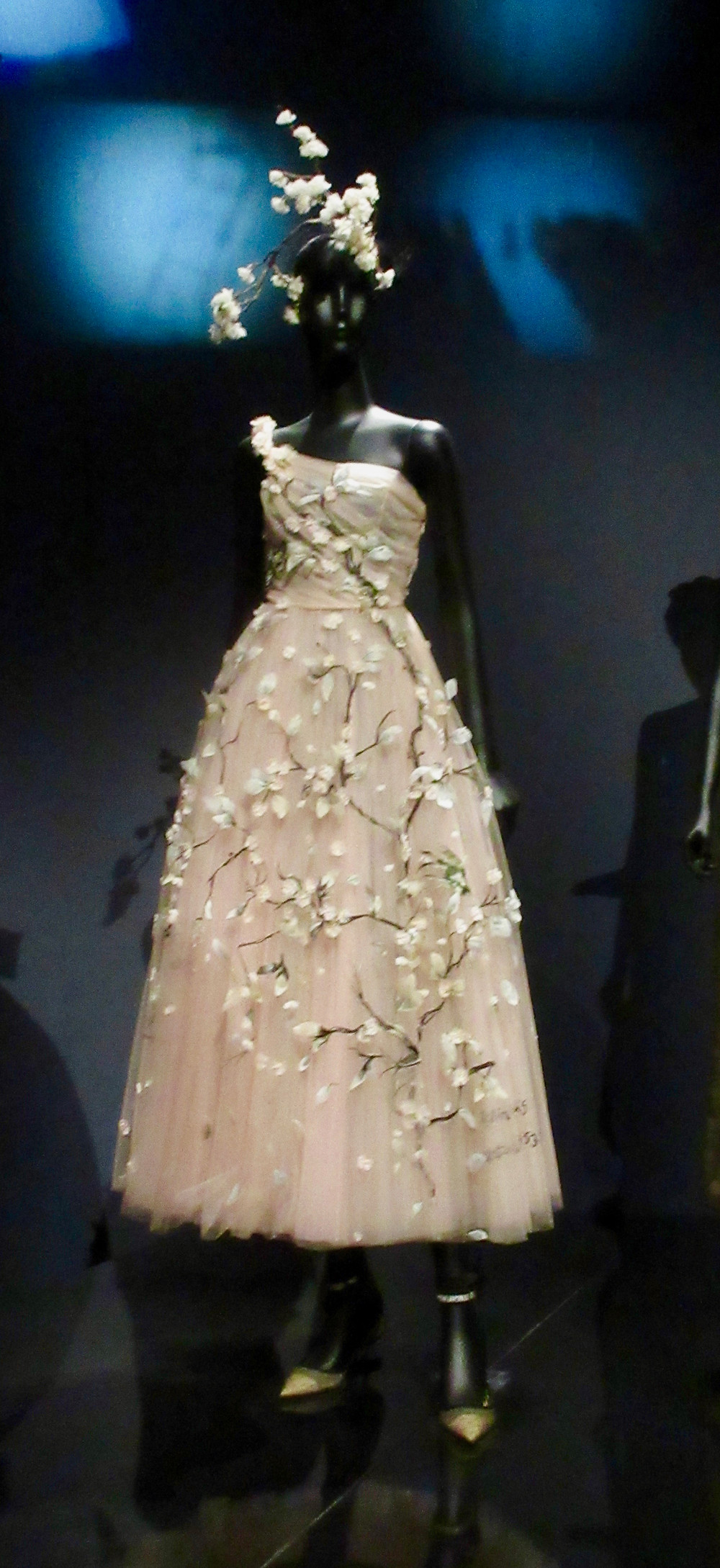 Maria Grazia Chiuri's Haute Couture Autumn/Winter 1997 stretch silk damask and beadingSpring/Summer Collection 2017 tulle and embroidery