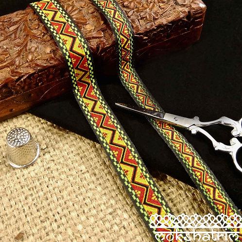 Zig Zag Tribal Jacquard Ribbon M118