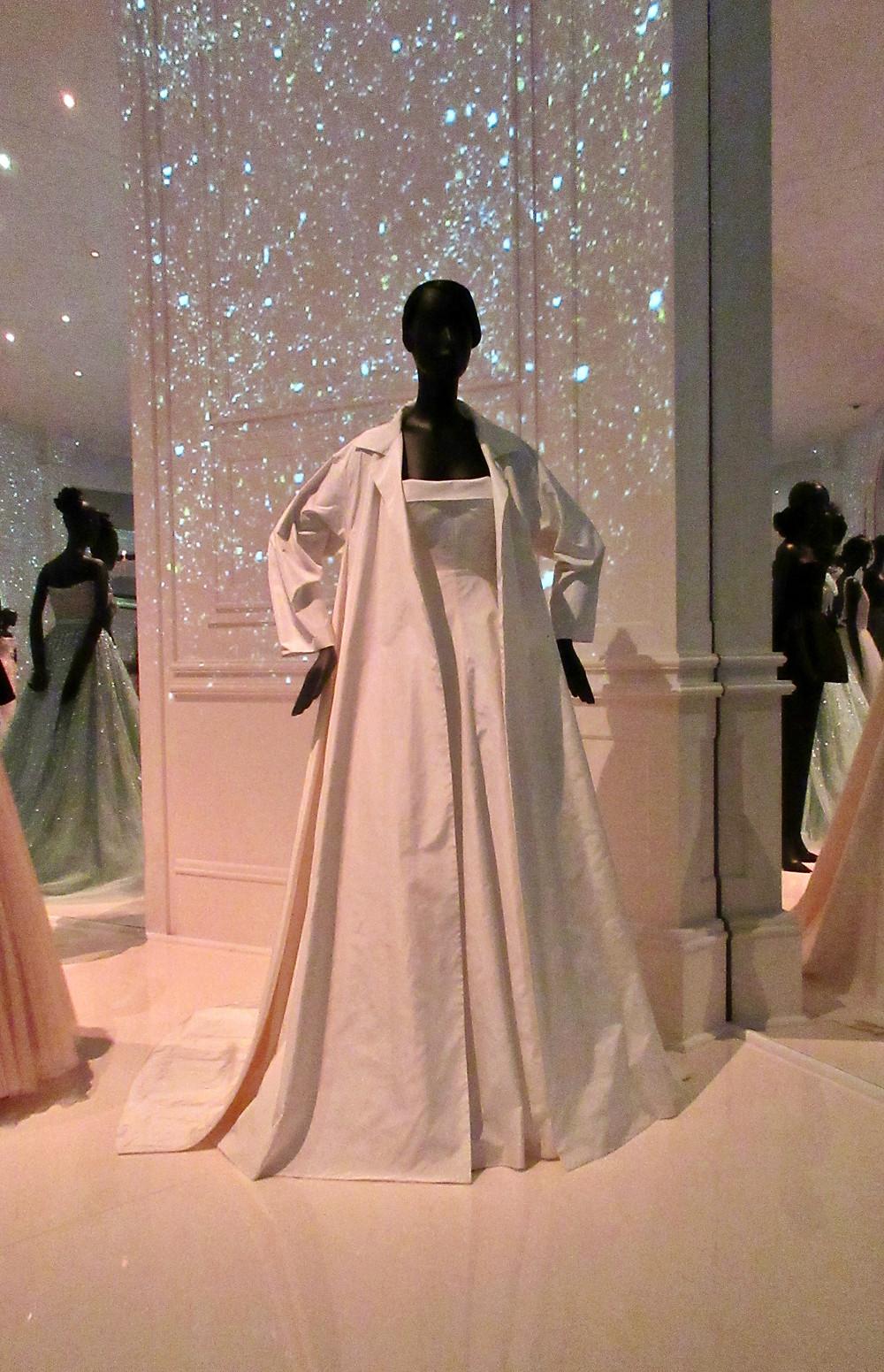 Dress worn by Rhianna to Canne Film Festival in May 2017. Maria Grazia Chiuri bespoke silk taffetta.