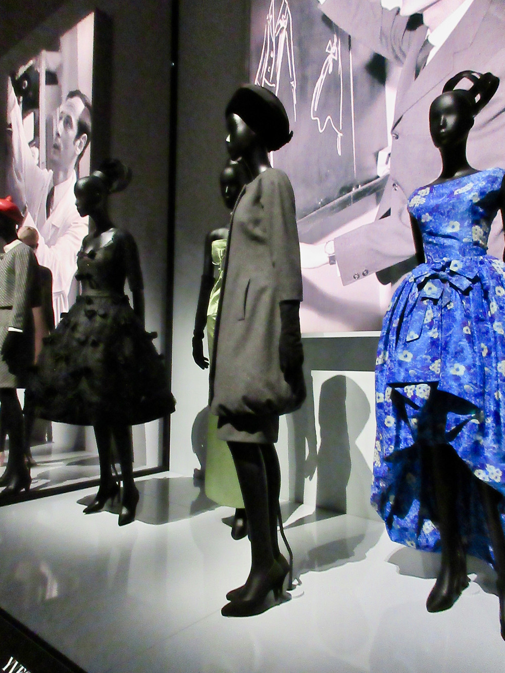 A selection of designs by Yves Saint Laurent for Dior.