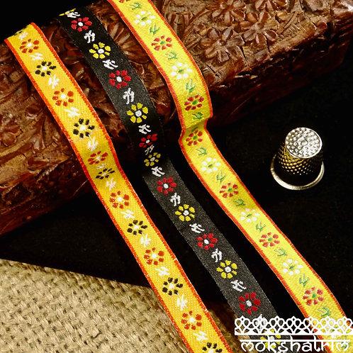 Floral Jacquard Ribbon M119