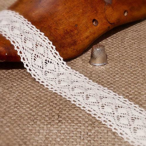 Cream Cotton Crochet Double Diamond Lace M340