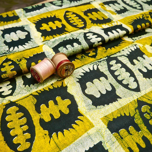 Yellow/Black Seed Printed Batik Style MA818