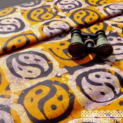 Orange Burgundy Yin Yang batik printed ethnic african wax fabric ethnic cotton ankara Mokshatrim Haberdashery