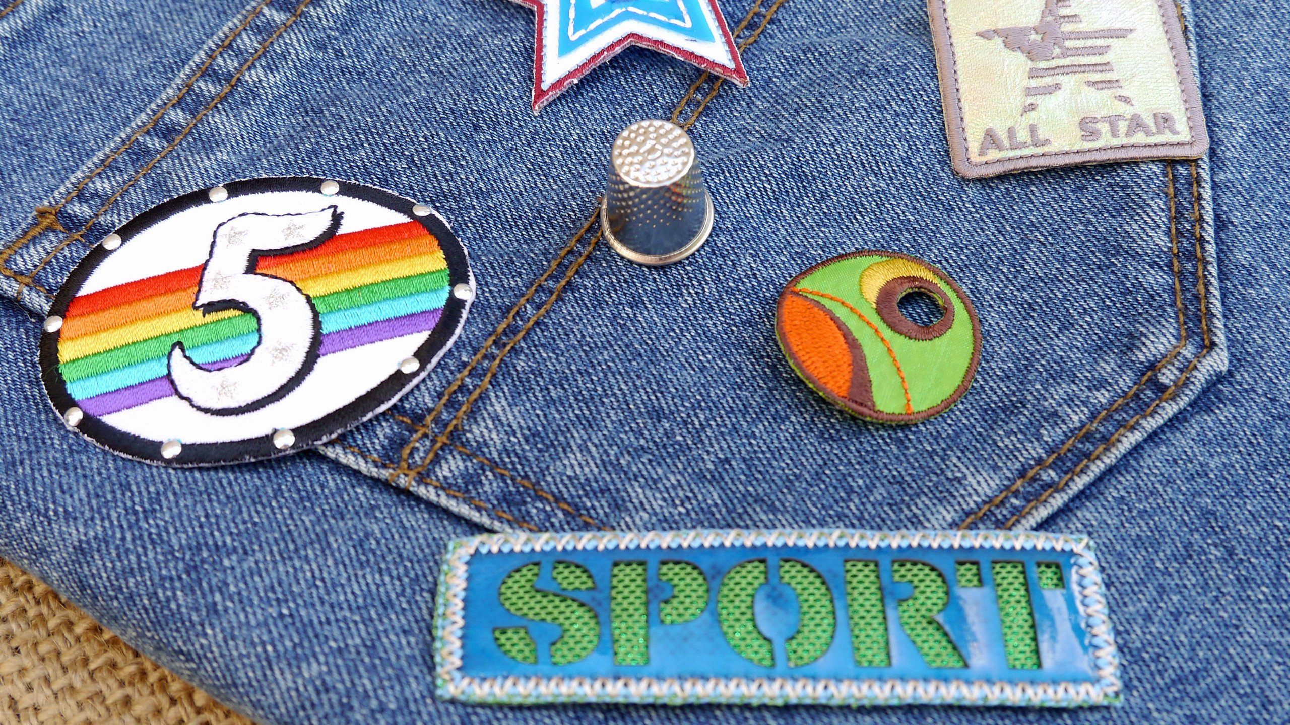 Sports themed Iron On Applique Patches