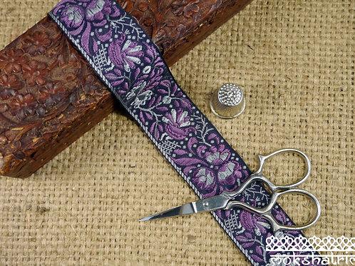 Purple Floral Jacquard Ribbon ML79