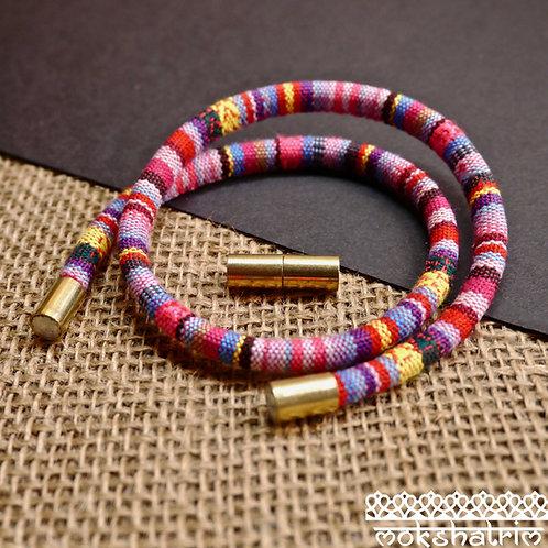 antique gold coloured metal Magnetic cord closure jewellery craft bracelet necklace mokshatrim haberdashery