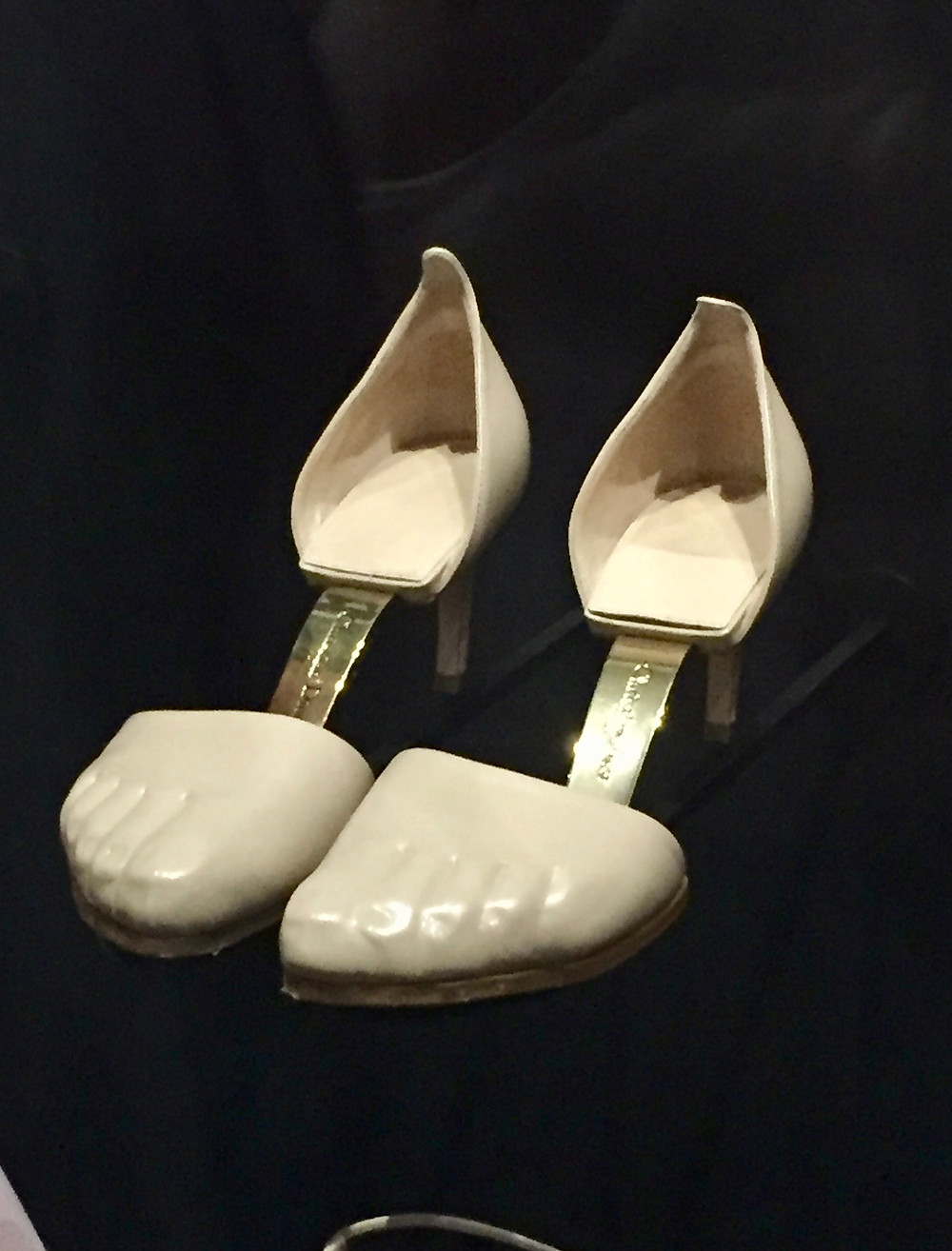 Maria Grazia Chiuri Spring/Summer 2018 Calfskin leather and metal shoes.