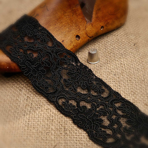 Corded Black Lace ML362