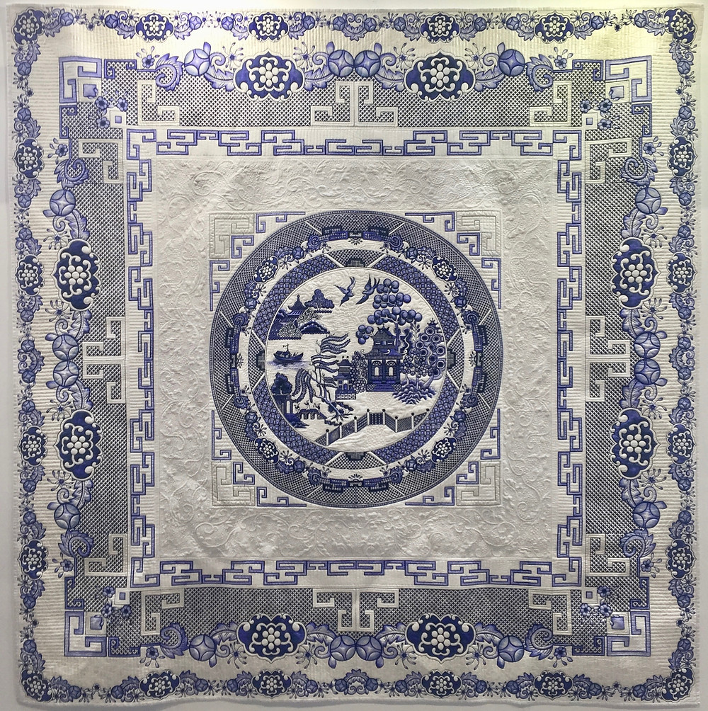 The Legend of the Willow Pattern by Debbie Carrington (Winner of the Vlieseline Textile Award)