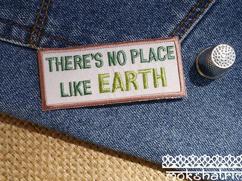 Iron On earth eco environmental recycling embroidered patch applique trim mokshatrim haberdashery