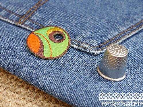 Iron On circular tennis ball sport embroidered sequin patch applique trim mokshatrim haberdashery