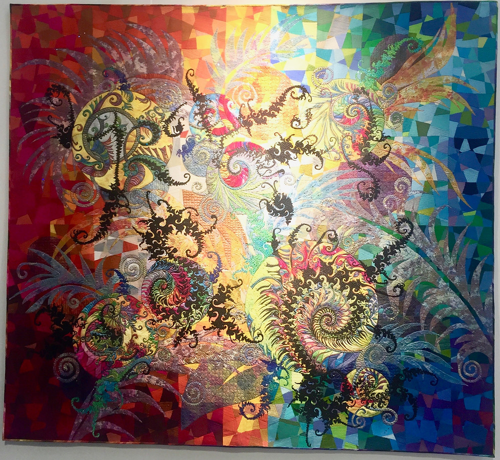 Festival of Quilts WINNER CONTEMPORARY QUILTS Fractal by Claudia Pfeil
