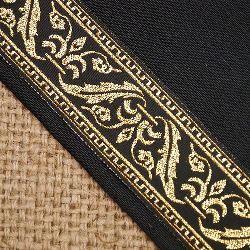 Gold Baroque Jacquard Ribbon MA42