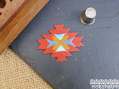 aztec tribal western american indian embroidered patch applique trim mokshatrim haberdashery