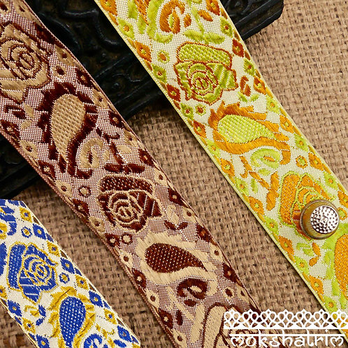 Rose Paisley Jacquard Ribbon M50