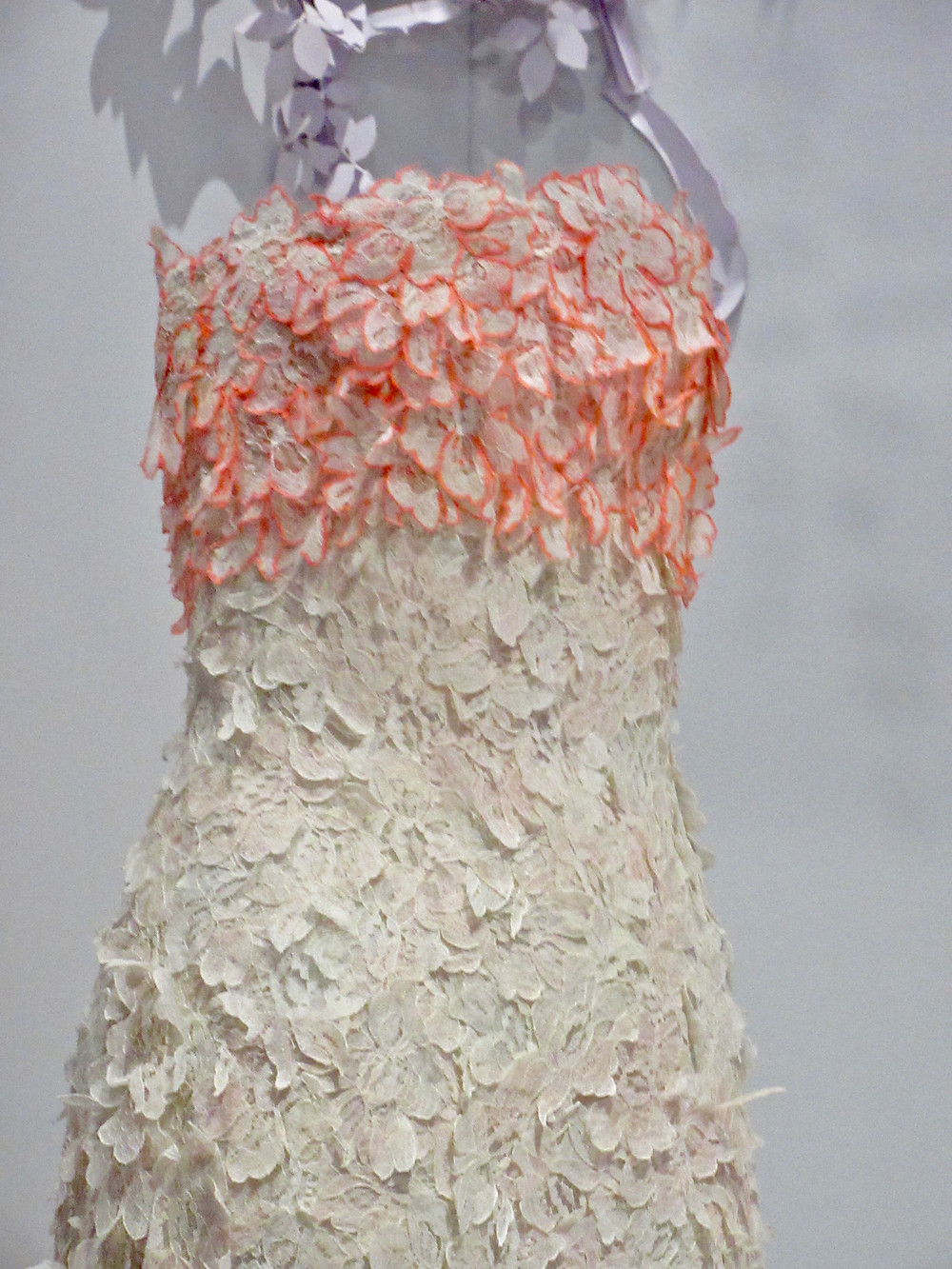 Raf Simons Dress Haute Couture Spring/Summer 2013. Silk organza and cotton guipure lace.