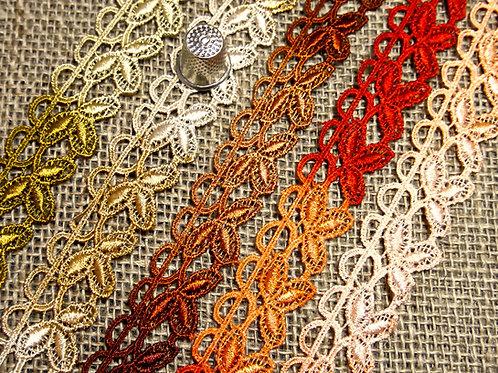 Leaf Design Variegated Lace M204