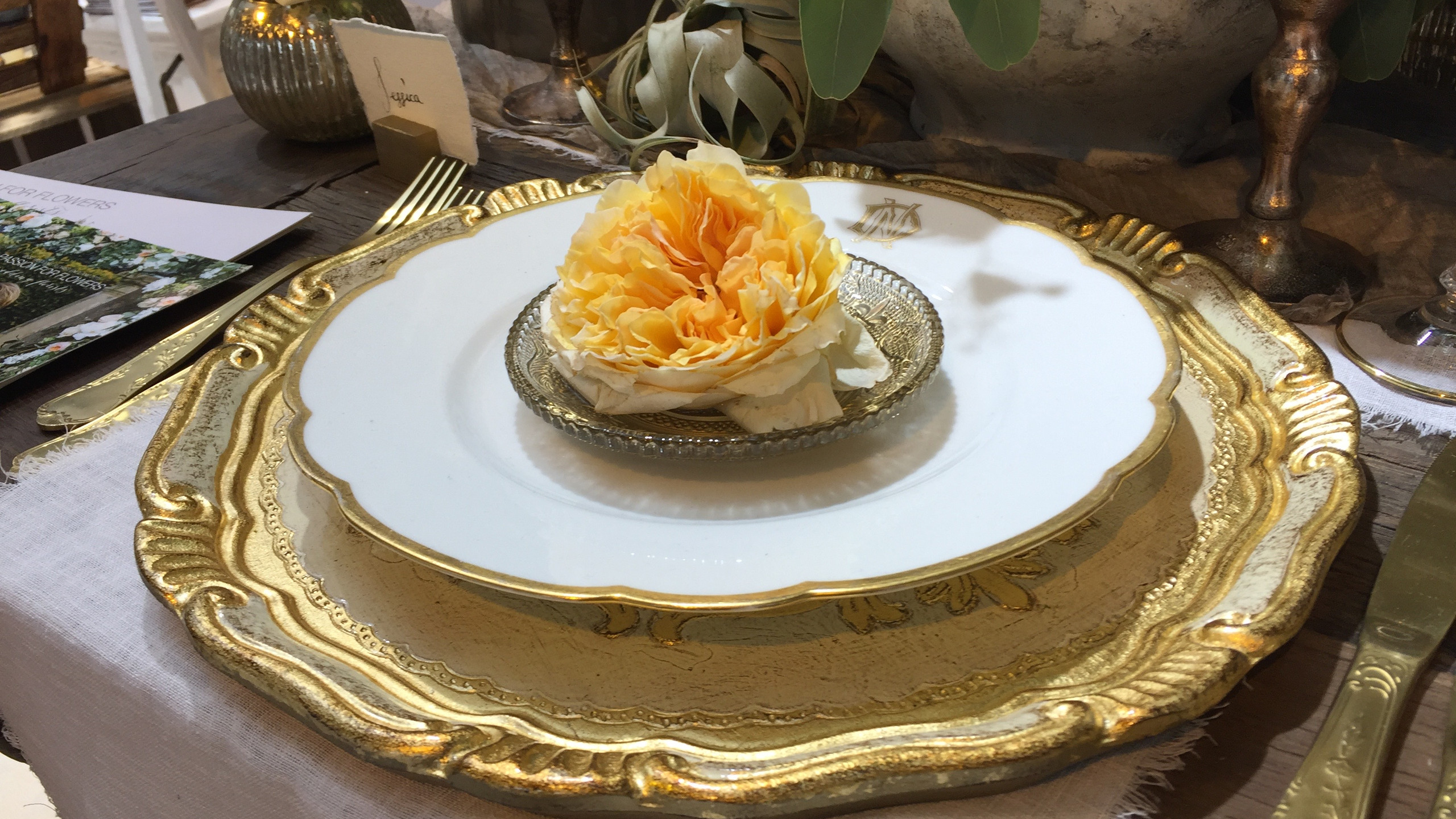 More detail of the place settings from Passion for Flowers