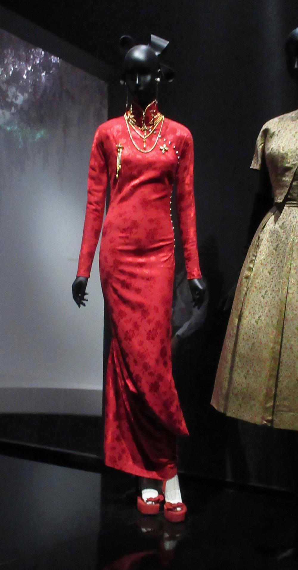 John Galliano Haute Couture Autumn/Winter 1997 stretch silk damask and beading
