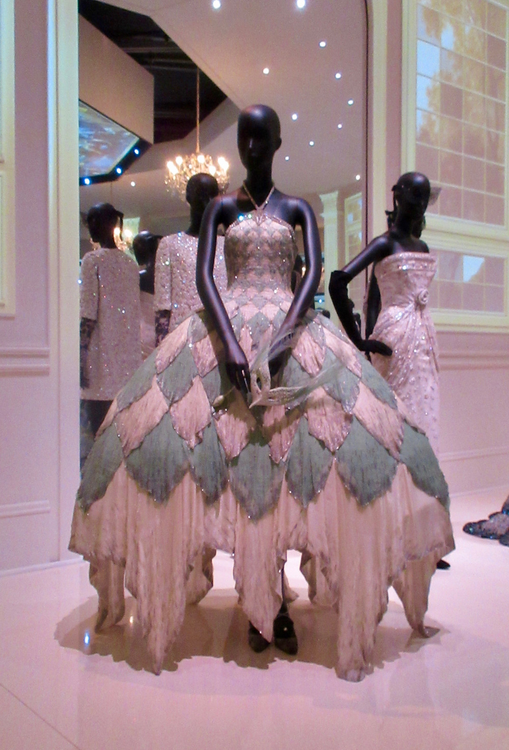 Arlequin d'Eau Argentee Dress (Silvery Watery Harlequin) by John Galliano Haute Couture Spring Summer 1998. Chiffon silk, beads and swarovski crystals