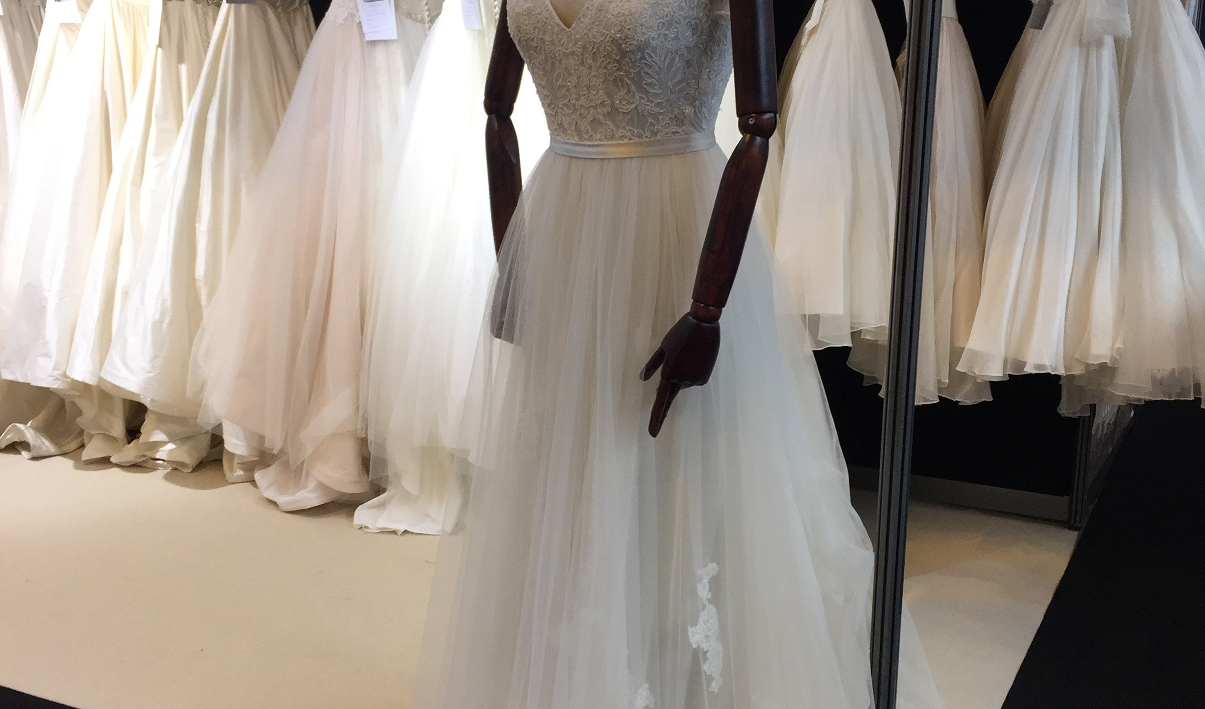 Love the wooden arms - makes the dress look balletic as well