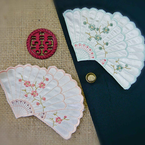Chinese Fan Applique MA378