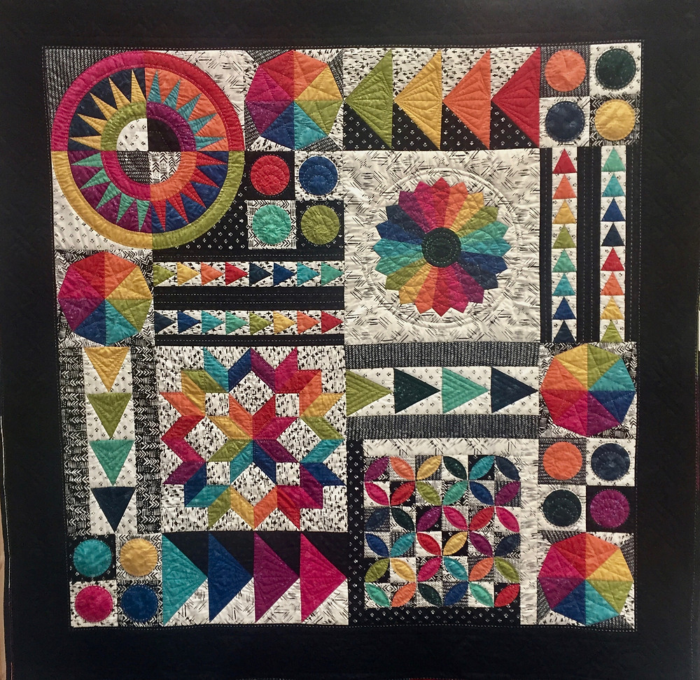 Festival of Quilts Modern Mash Up by Alison Stothard (Traditional Quilt)