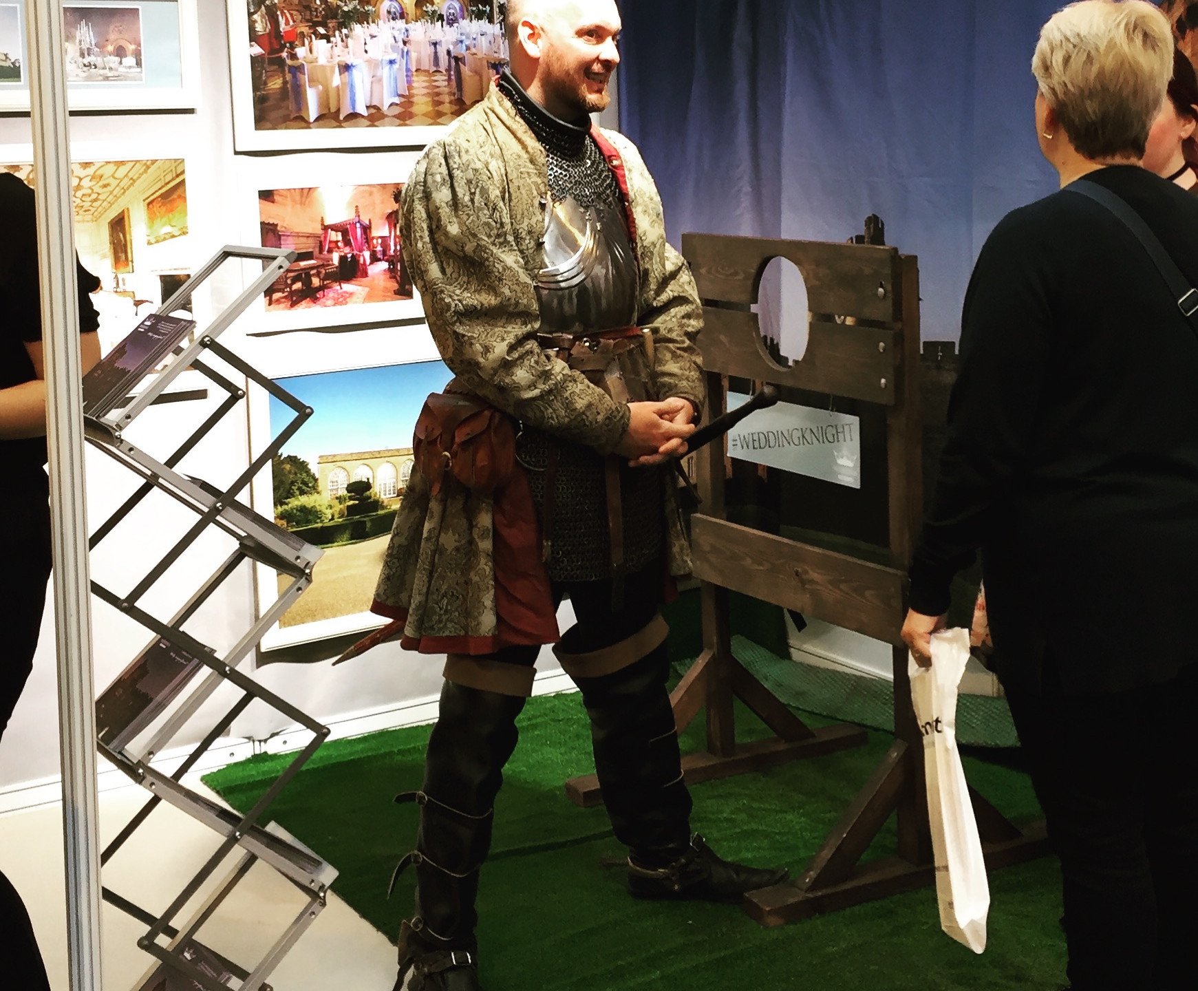 I discovered a penchant for men in armour (Warwick Castle's stand)