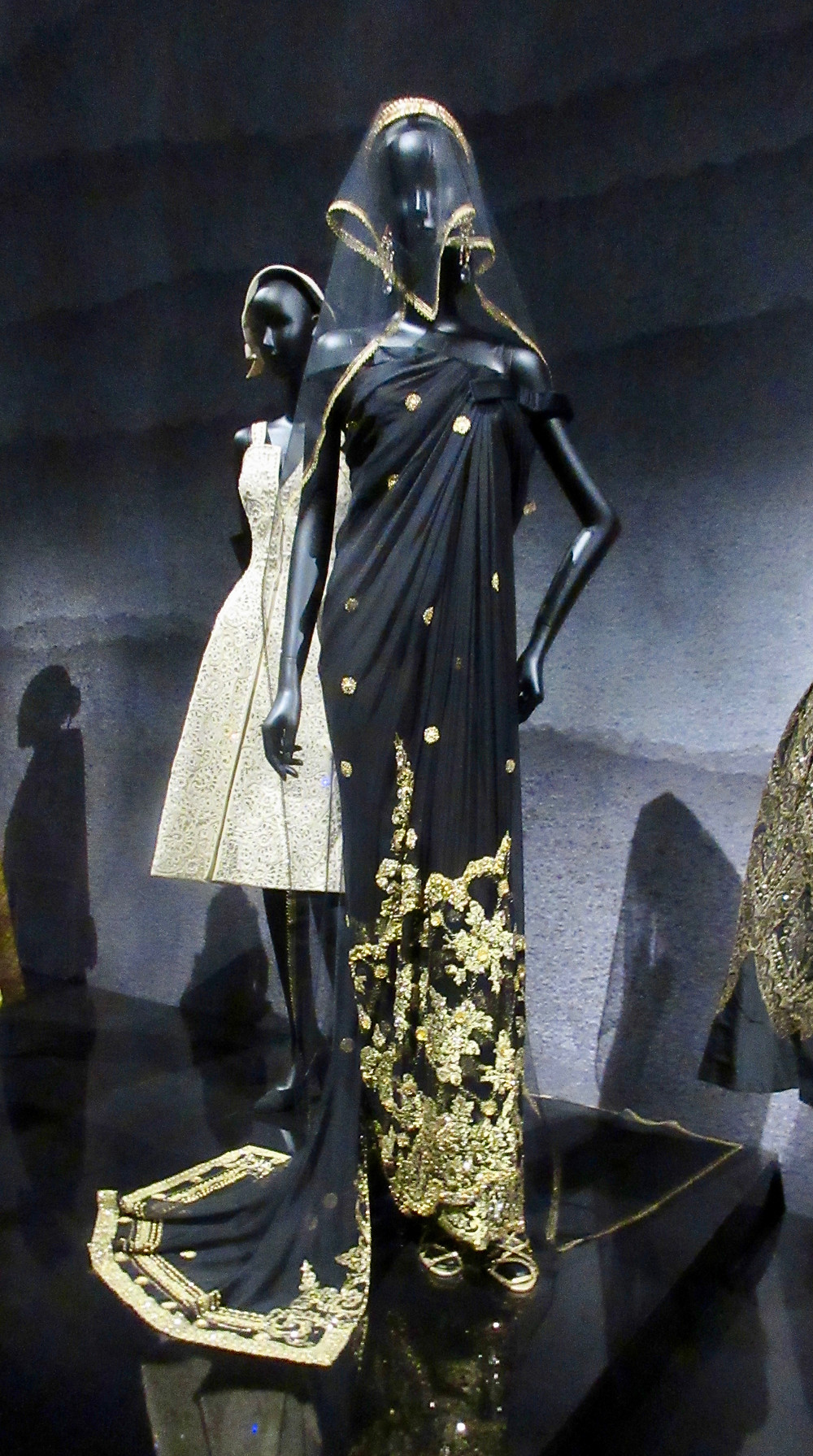 Indian Influence - Shalimar Dress by Gianfranco Ferrere Haute Couture Autumn/Winter 1996. Silk Chiffon, metal thread lace, sequins, beads and Swarovski crystals.