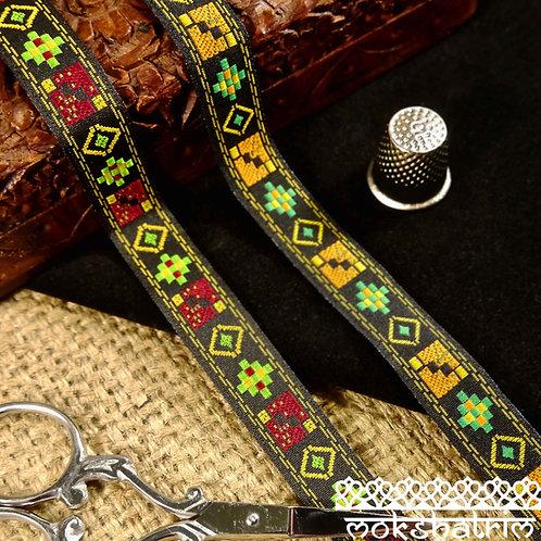 Tribal Jacquard Ribbon M117