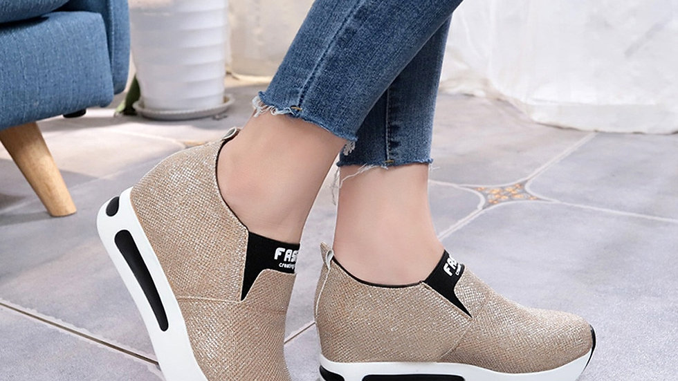Women Shoes Ladies  Flat Thick Bottom Shoes Slip on Ankle Boots