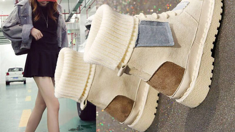 Explosions Suede Canvas Color Matching Wild High-Top Wool