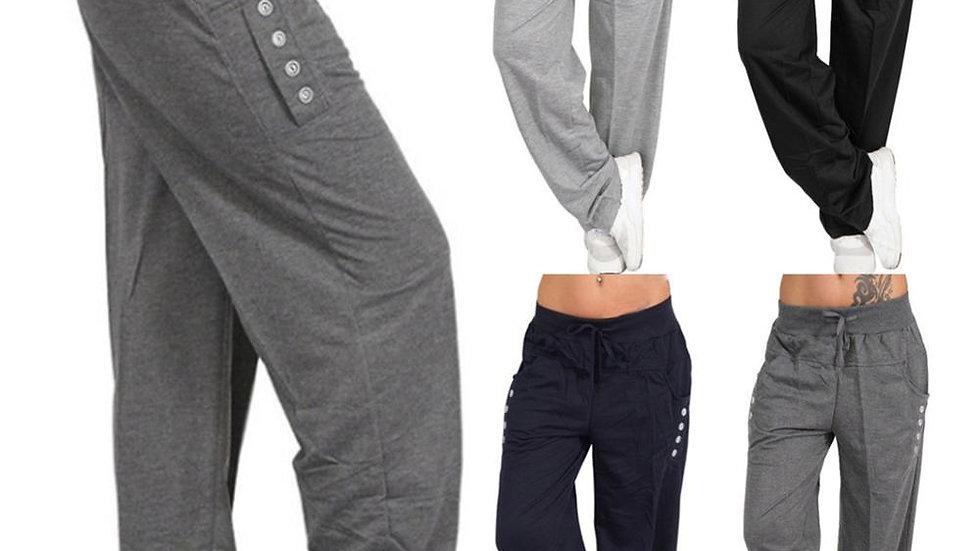 Women's Casual Loose Sport Harem Pants Sweatpants Wide Leg