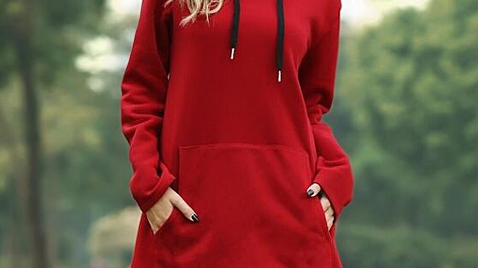 Hooded Long Sleeve Loose Casual Plus Size