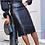 Thumbnail: Women High Waist Beading PU Faux Leather Pencil Skirt