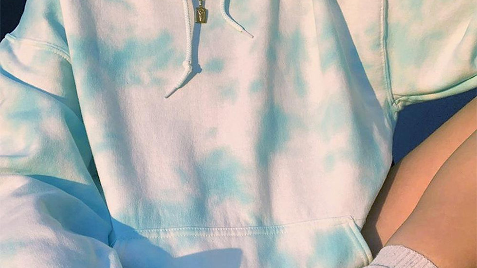 Casual Long Sleeve Tie Dye Hoodie Harajuku Oversize Sweatshirt